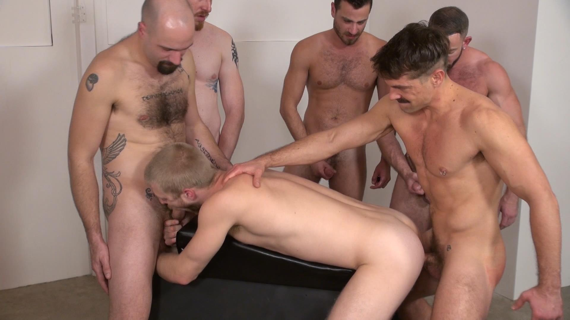 Raw-and-Rough-Bareback-Gay-Sex-Orgy-Amateur-Gay-Porn-01 Six Hairy Hung Guys Pounding A Bottom At A Bareback Sex Party