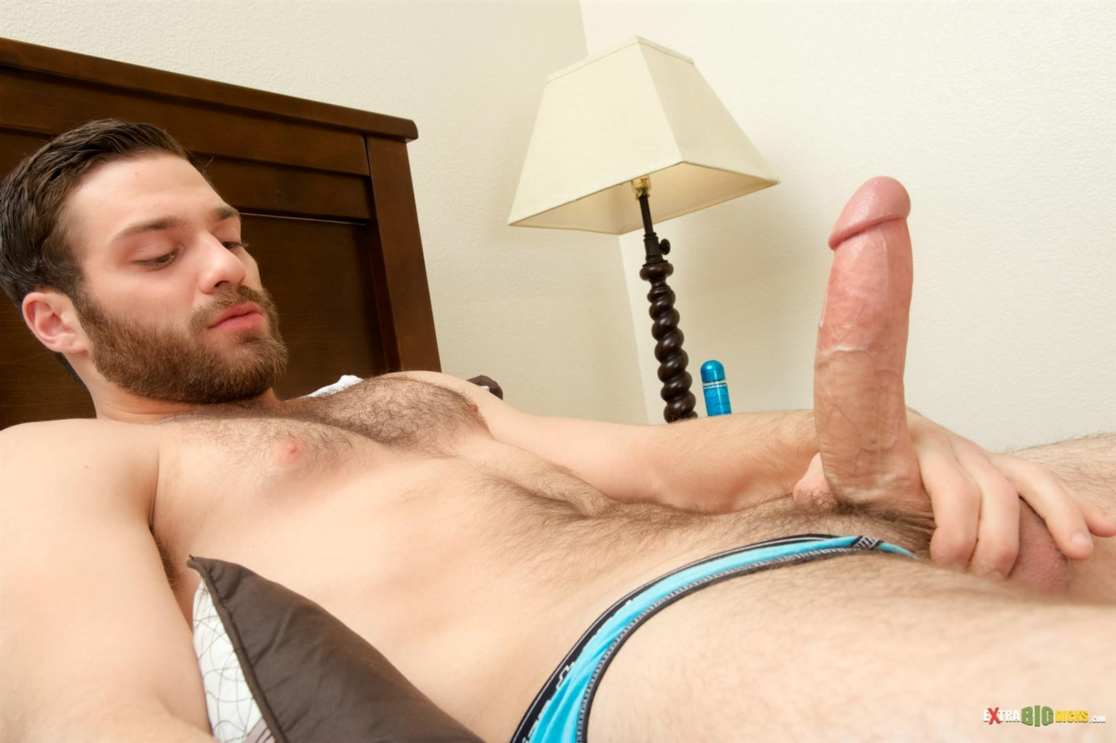 Hot Gay Hunk Jerks His Long Dick
