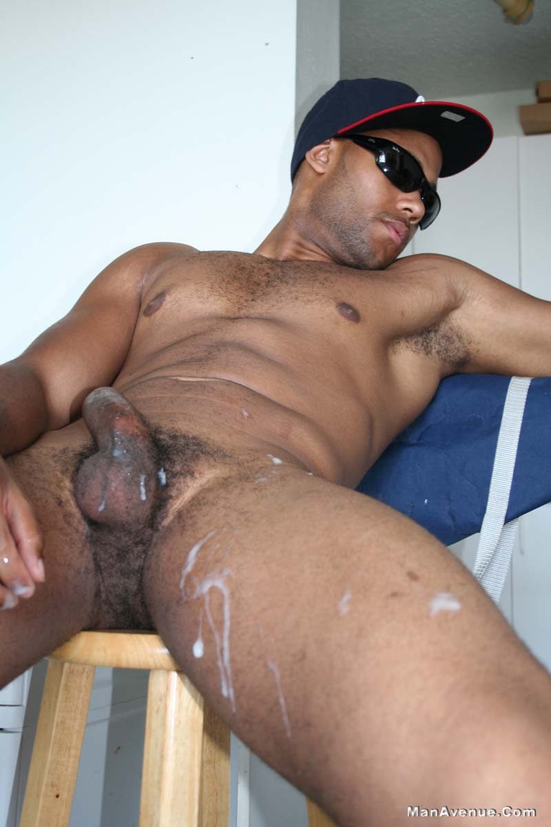 Gay Muscular Hunk Jerks And Cums