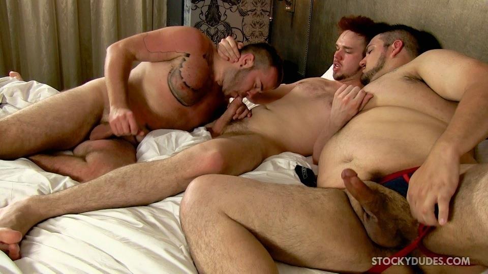 Stocky-Dudes-Brock-Fulton-and-Craig-Cruz-and-Zeke-Johnson-Chub-Cub-and-Chaser-Barebacking-Amateur-Gay-Porn-22 A Chub, A Cub and A Chaser Bareback At A Hotel Orgy