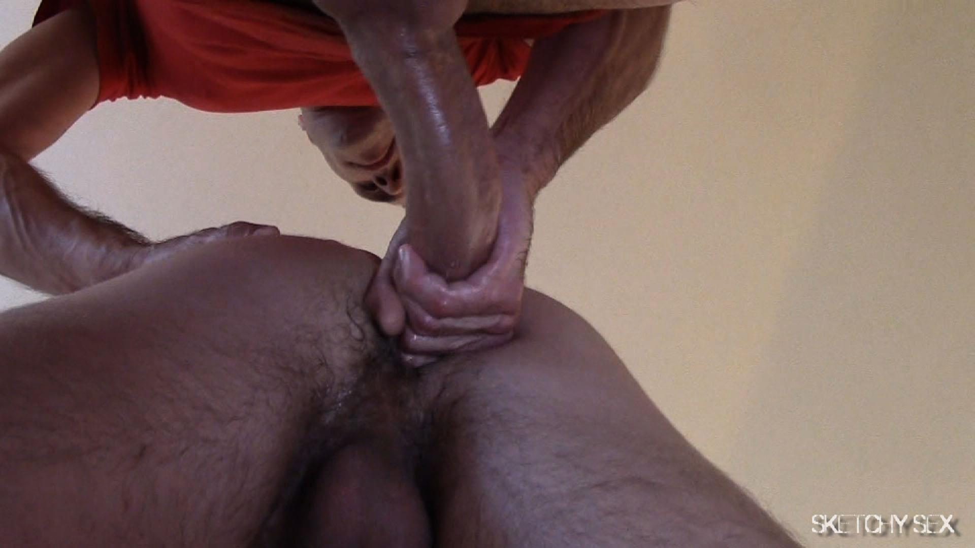 "Sketchy-Sex-Nate-Getting-Fucked-Bareback-By-A-10-Inch-Craigslist-Cock-Amateur-Gay-Porn-08 Taking A 10"" Craigslist Cock Bareback While The Roommate Watches"
