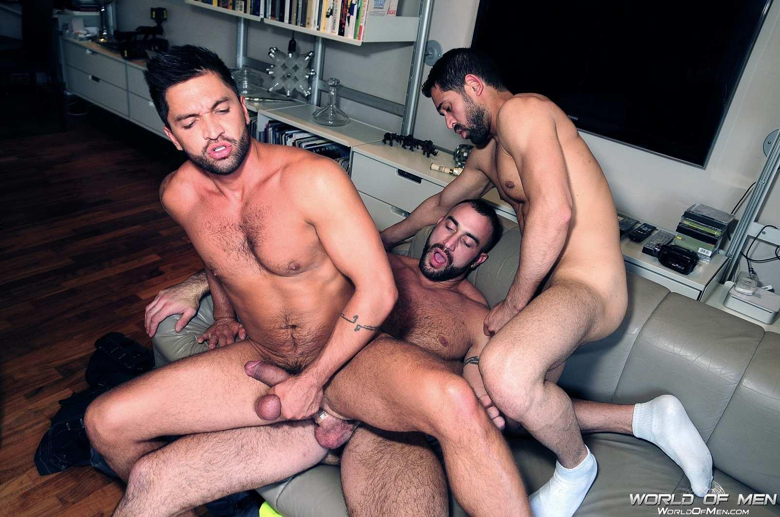 World-Of-Men-Spencer-Reed-and-Dominic-Pacifico-and-Billy-Baval-Taking-Two-Huge-Cocks-Up-The-Ass-Tagteam-Amateur-Gay-Porn-19 Dominic Pacifico Getting Tag Teamed By Two Huge Cocks