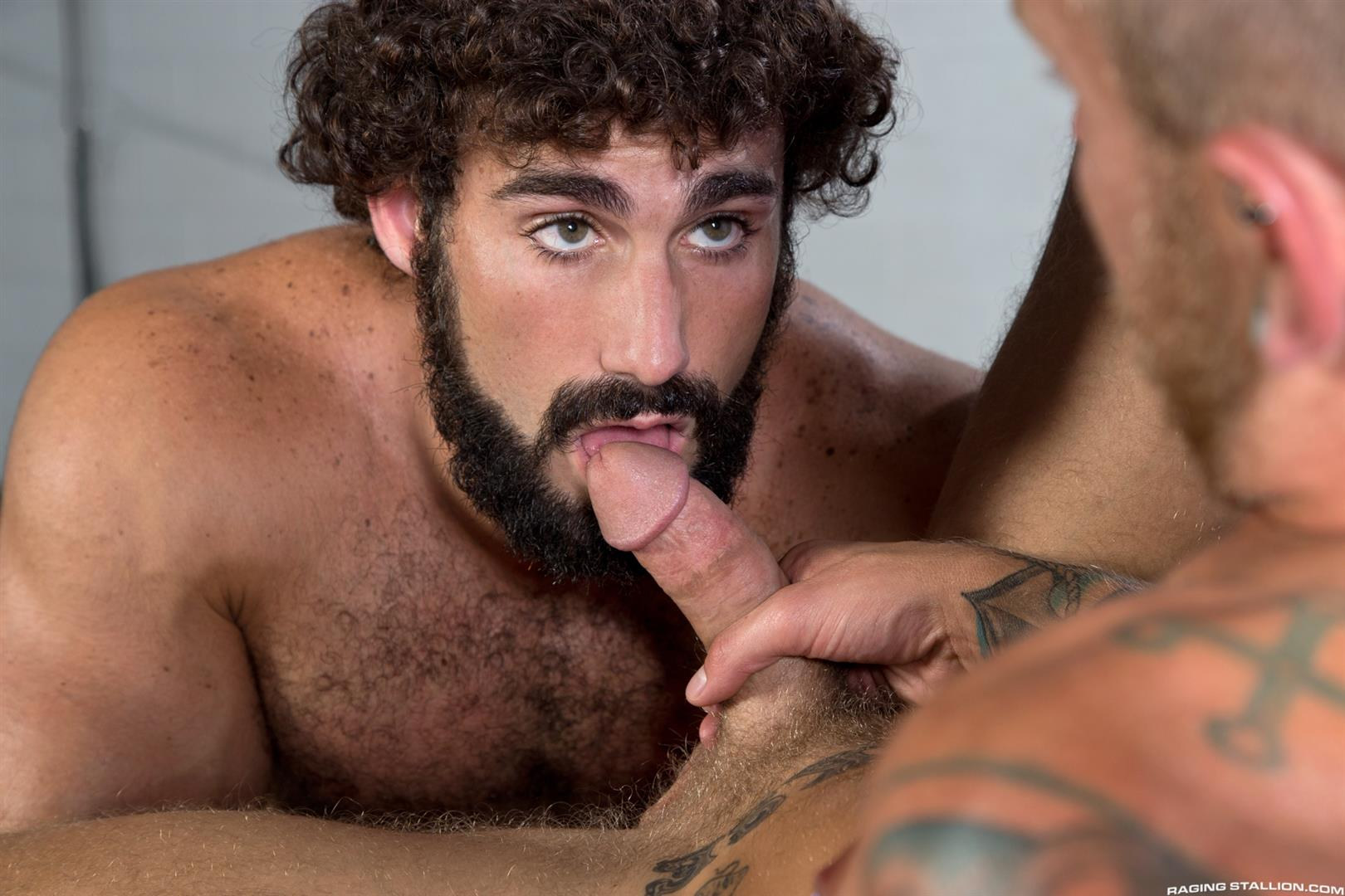 Hairy muscle gay man bondage new sub man