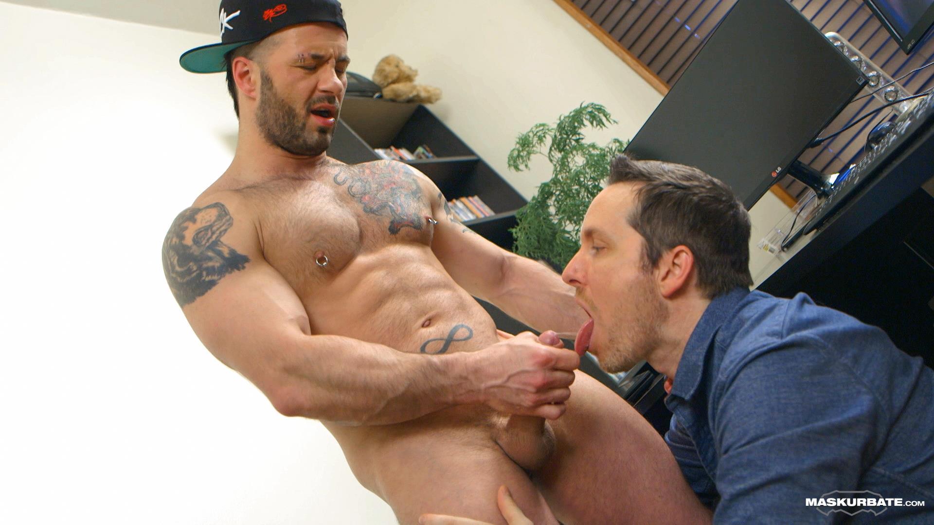 Maskurbate-Manuel-Deboxer-Gets-His-Big-Uncut-Cock-Sucked-Amateur-Gay-Porn-14 Manuel Deboxer Gets His Big Uncut Cock Sucked Off