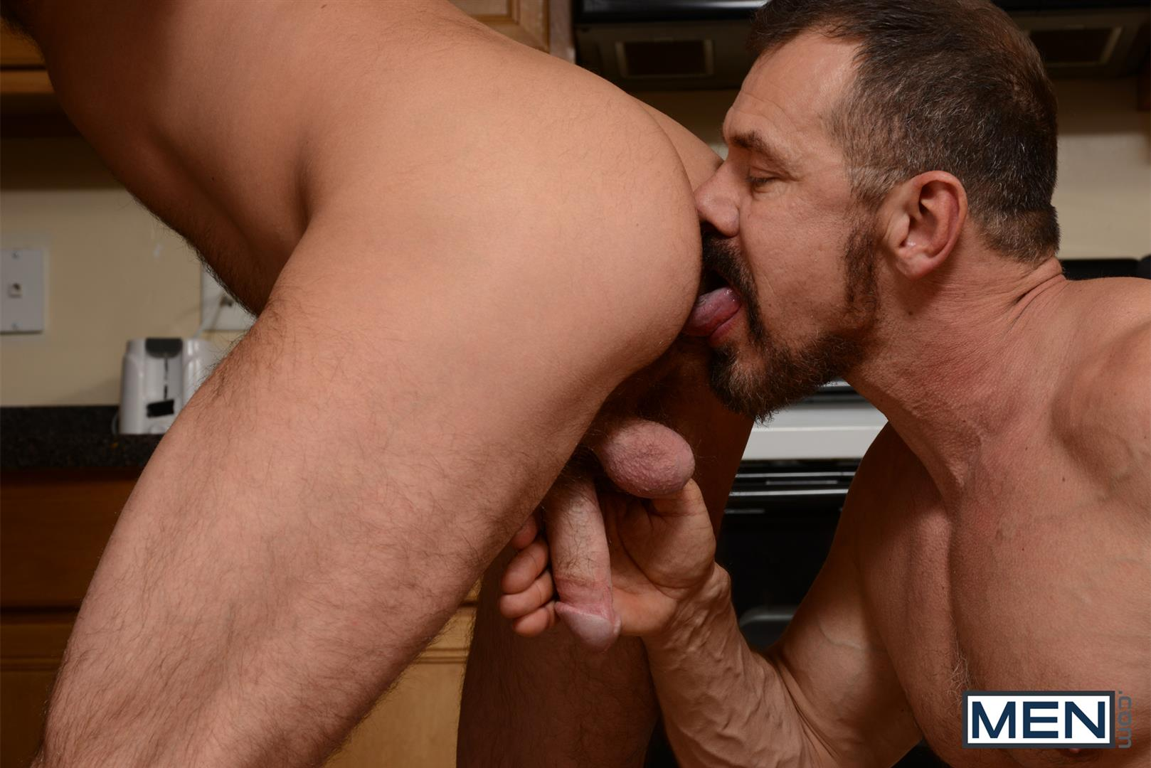 Men-Drill-My-Hole-Max-Sargent-and-Mike-Tanner-Thick-Cock-Daddys-Fucking-Amateur-Gay-Porn-05 Hairy Muscle Daddy's Fucking In The Kitchen And Eating Cum
