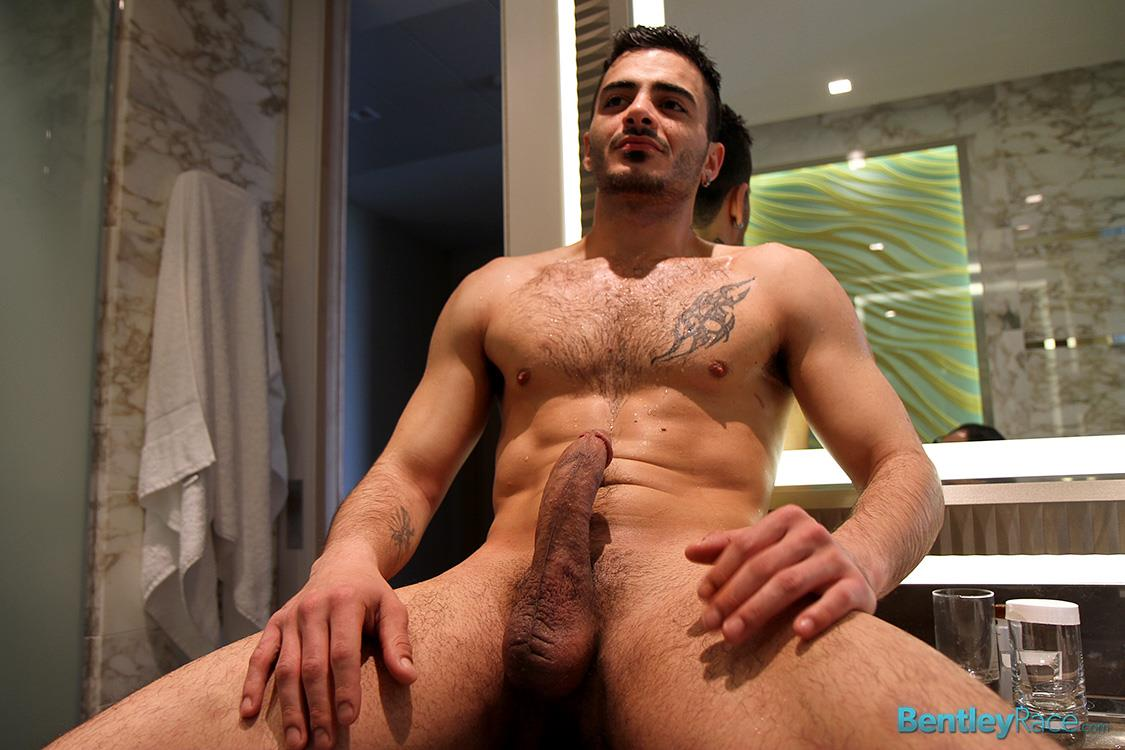 Bentley-Race-Aro-Damacino-Big-Arab-Cock-Masturbation-Bareback-Sex-Party-Amateur-Gay-Porn-19 Muscular Middle Eastern Hunk Strokes His Big Arab Cock