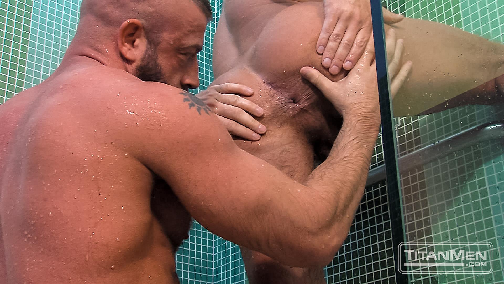 Titanmen-Titan-Hunter-Marx-and-Dirk-Caber-Hairy-Muscle-Daddy-Fuck-Amateur-Gay-Porn-24 Dirk Carber Gets Fucked Hard By Another Muscle Daddy With A Thick Cock
