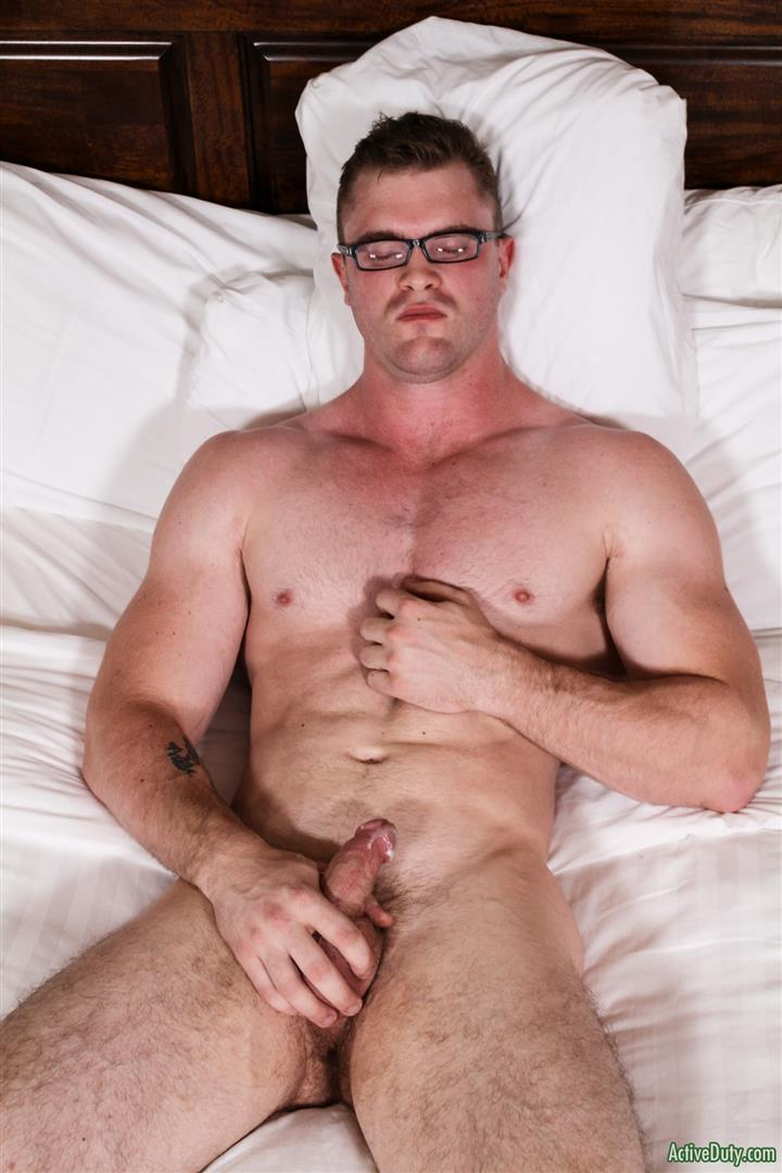 Active-Duty-Scott-Ambrose-Muscle-Naked-Marine-Jerking-Off-Amateur-Gay-Porn-14 Hairy Muscular American Marine Jerks His Thick Cock