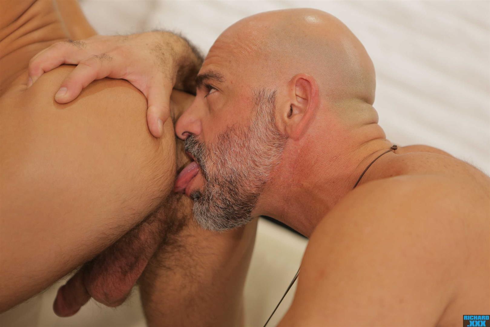 Richard-XXX-Adam-Russo-and-Casey-Everett-Muscle-Daddy-Thick-Dick-Bareback-Video-14 Hairy Muscle Daddy Adam Russo Bareback Fucking Casey Everett