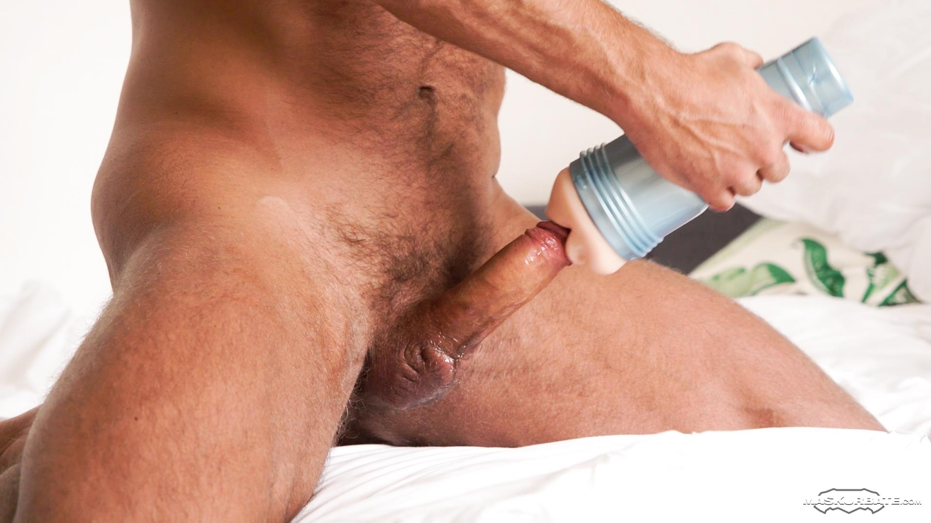 Maskurbate-Zack-Hood-and-Thomas-Friedl-Hairy-Muscle-Hunk-Jerking-Off-07 Hairy Muscle Hunk Uses A Fleshlight On His Big Uncut Cock
